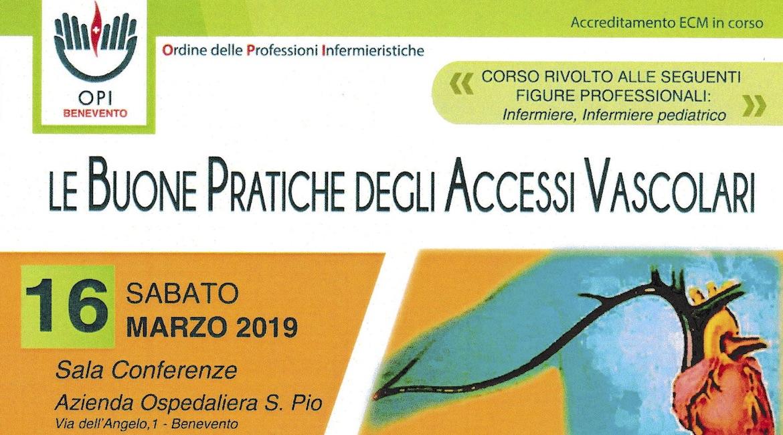 CORSO DI FORMAZIONE ECM – Le Buone Pratiche degli Accessi Vascolari