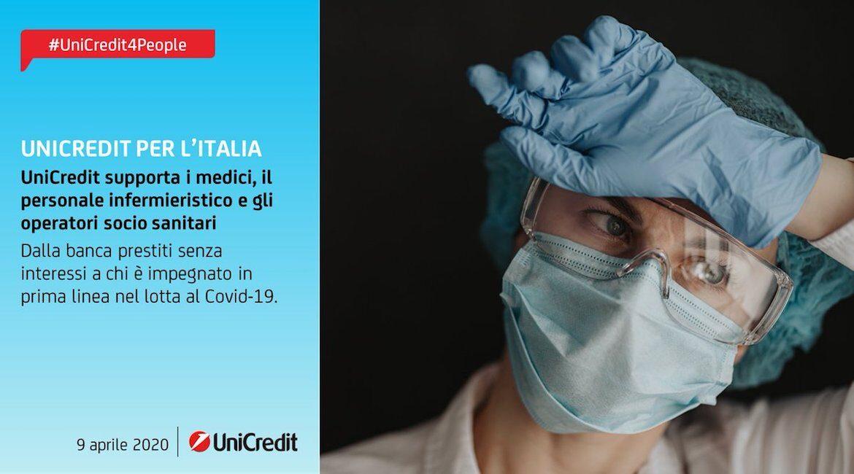 UniCredit supporta i medici, il personale infermieristico e gli operatori socio sanitari